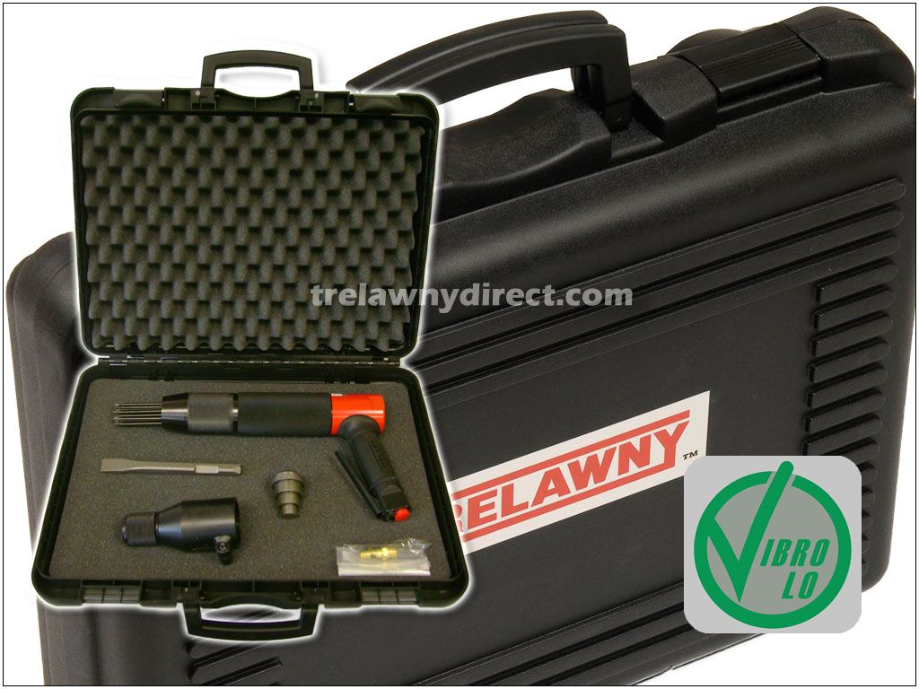 Trelawny 196.3103 VL303 Needle / Chisel Scaler Kit. Comes with tool set-up as a needle scaler, along with chisel holder, anvil and standard 3/4 inch chisel for quick conversion to chisel scaler form.