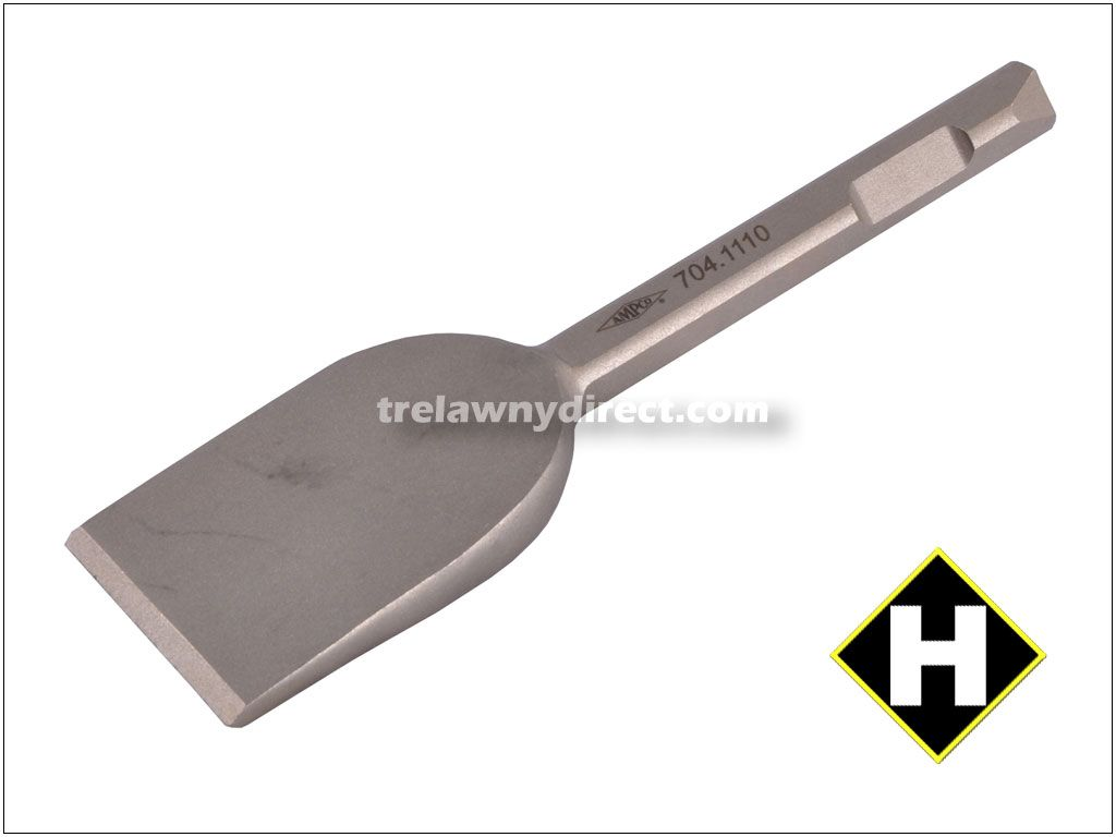 Trelawny Chisel - 2 inch Blade x 7 inch Long (50mm x 178mm) 1/2inch (12mm) Square Shank Alu-Bronze Anti Spark 704.1110. For use in hazardous areas. Alu Bronze (Non-Spark)